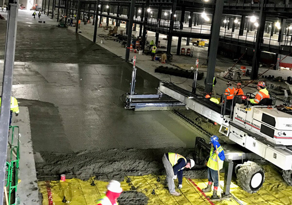 Amazon Fulfillment Center, Romulus, Michigan - Commercial Project Portfolio | B & B Concrete Placement - amazon-main
